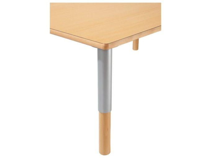 Verstellbarer Tisch rechteckig 50x60 cm - mit beschichteter Platte 4