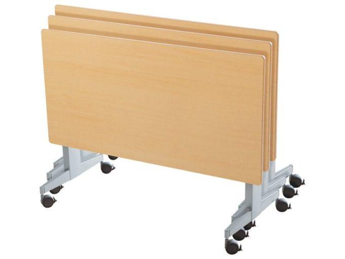 Klapptisch rechteckig 160x80 cm - mit beschichteter Platte - Höhe: 76 cm 6