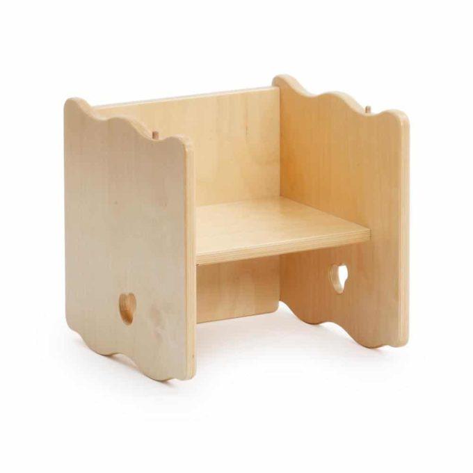 Multifunktionsstuhl - Hocker und Tisch 1