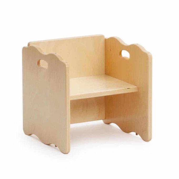 Multifunktionsstuhl - Hocker und Tisch 2
