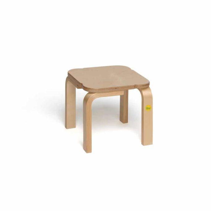 Holz-Hocker mit quadratischer Sitzfläche 9