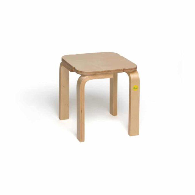 Holz-Hocker mit quadratischer Sitzfläche 8