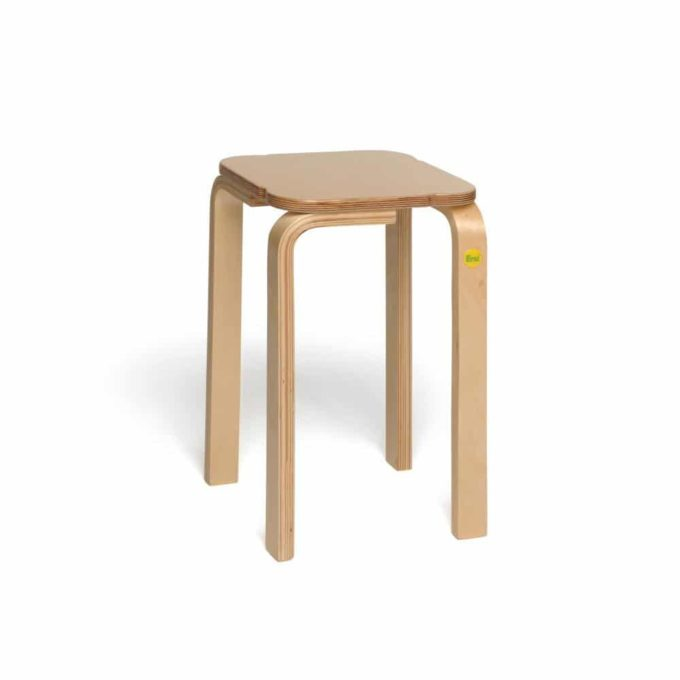 Holz-Hocker mit quadratischer Sitzfläche 5
