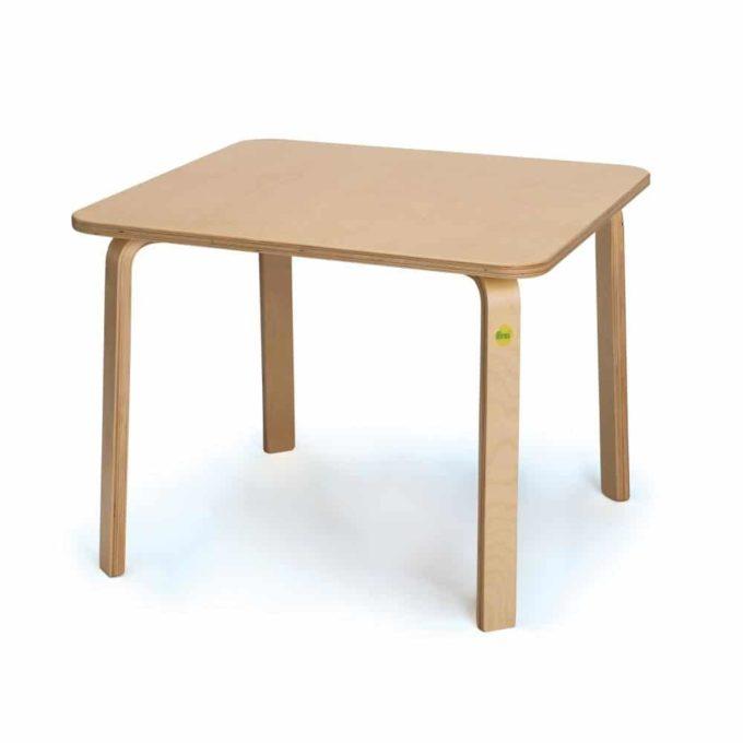 Tisch aus Birken-Formholz - lackiert 1