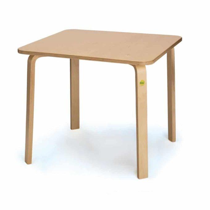 Tisch aus Birken-Formholz - lackiert 2