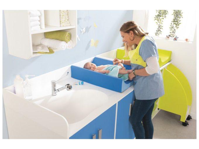 Wickelkommode Kazeo - mit Waschbecken und Türen 4