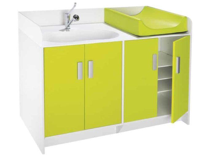 Wickelkommode Kazeo - mit Waschbecken und Türen 8