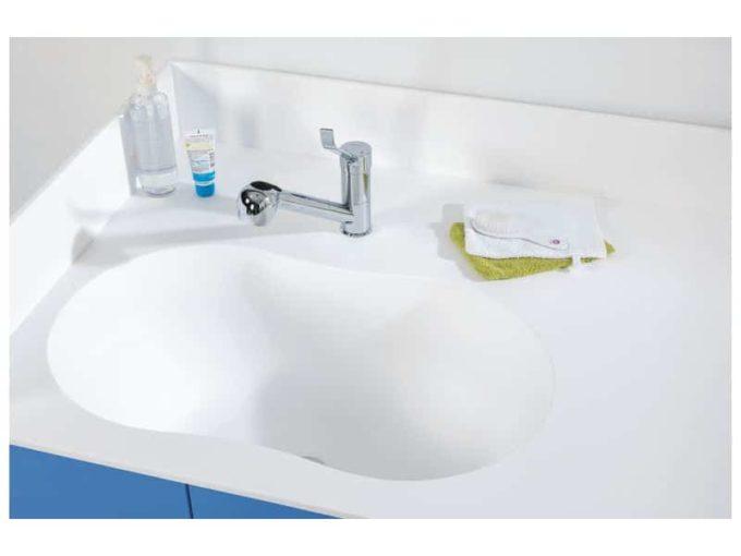 Wickelkommode Kazeo - mit Waschbecken und Türen 3