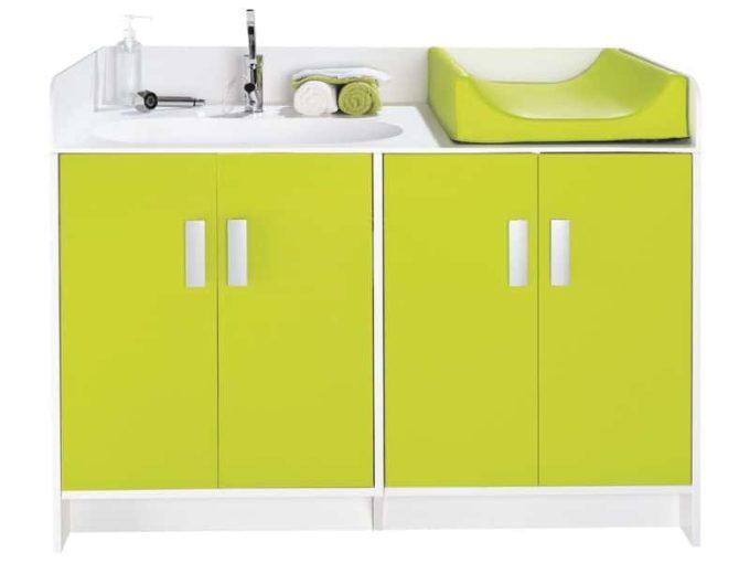 Wickelkommode Kazeo - mit Waschbecken und Türen 7