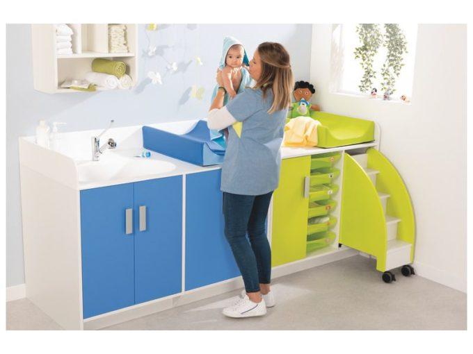 Wickelkommode Kazeo - mit Waschbecken und Türen 2