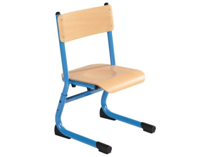 Kindergarten-Stuhl aus Metall - Sitzhöhe verstellbar - 26-31 cm 1