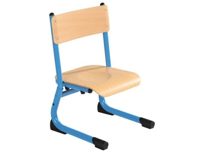 Kindergarten-Stuhl aus Metall - Sitzhöhe verstellbar - 26-31 cm 3