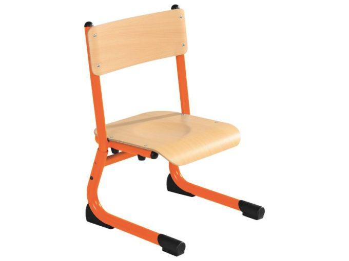 Kindergarten-Stuhl aus Metall - Sitzhöhe verstellbar - 26-31 cm 8