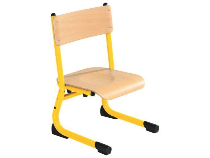 Kindergarten-Stuhl aus Metall - Sitzhöhe verstellbar - 26-31 cm 2