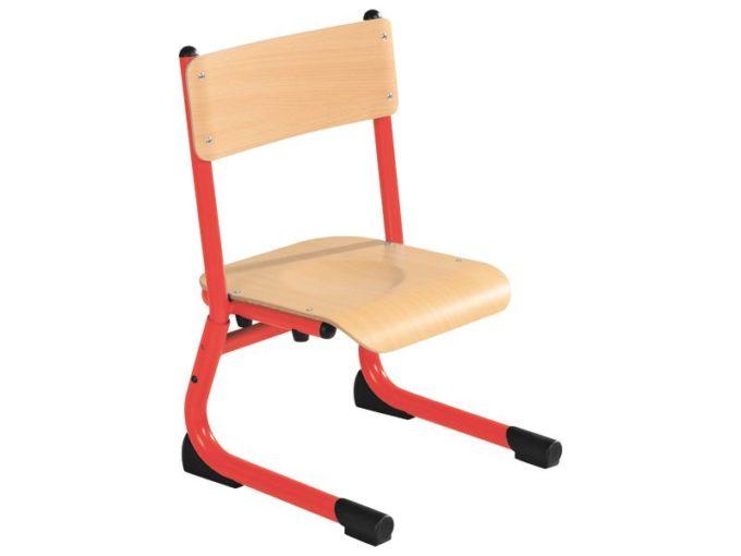 Kindergarten-Stuhl aus Metall - Sitzhöhe verstellbar - 26-31 cm 4