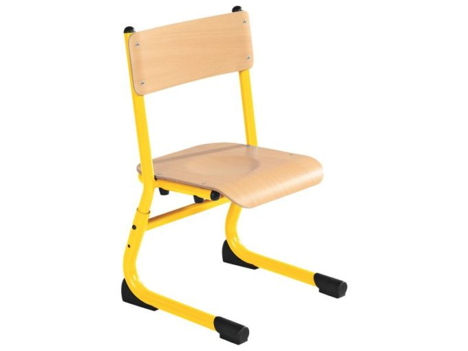 Kindergarten-Stuhl aus Metall - Sitzhöhe verstellbar - 26-31 cm 6