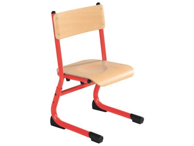Kindergarten-Stuhl aus Metall - Sitzhöhe verstellbar - 26-31 cm 7