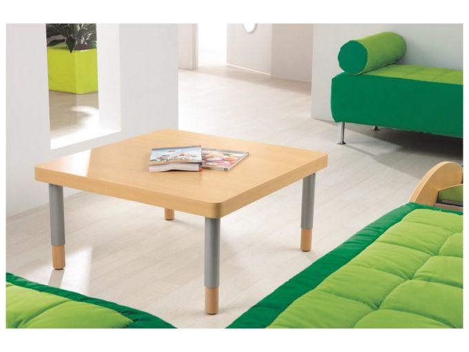 Verstellbarer Tisch quadratisch - mit dicker Platte 6