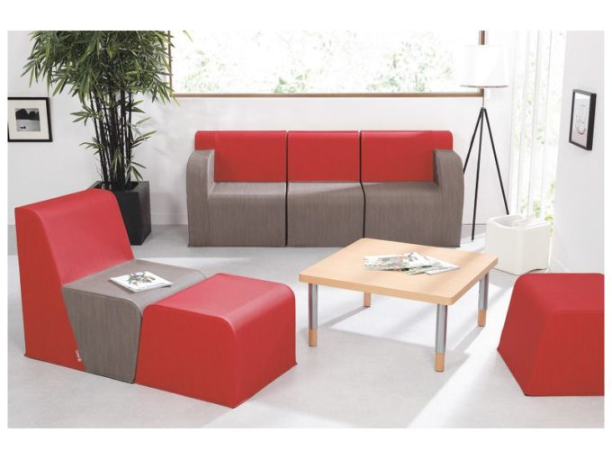 Verstellbarer Tisch quadratisch - mit dicker Platte 5