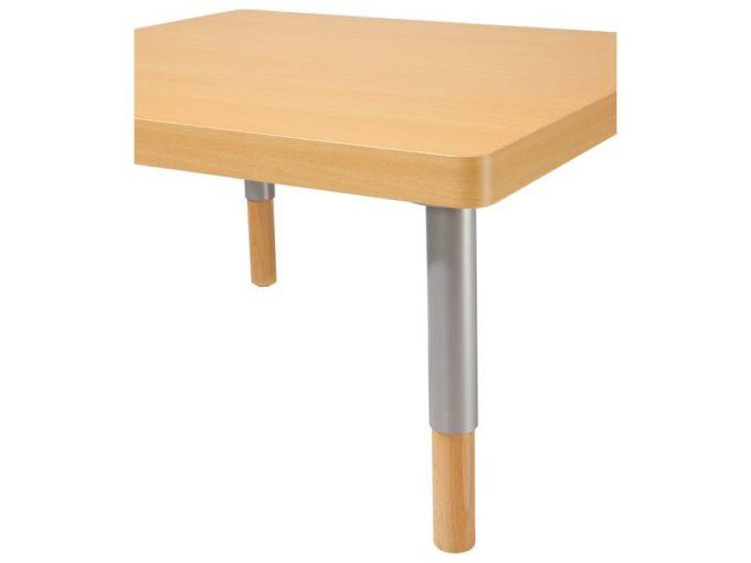 Verstellbarer Tisch quadratisch - mit dicker Platte 3