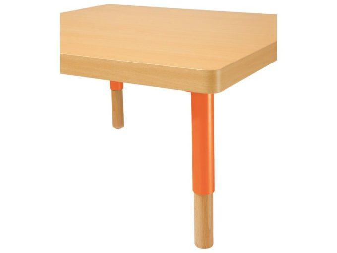Verstellbarer Tisch quadratisch - mit dicker Platte 4