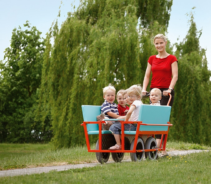 TÜV-geprüfter Krippenwagen für 6 Kinder 2