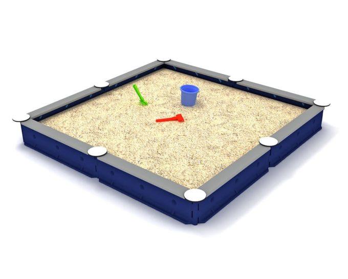 LEDON Sandkasten quadratisch mit 8 Seiten - verschiedene Ausführungen 18