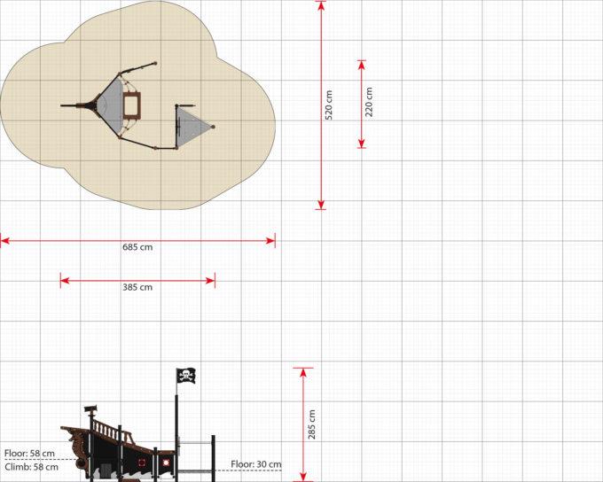 Piratenschiff Module aus der Serie LEDON Pirates 18