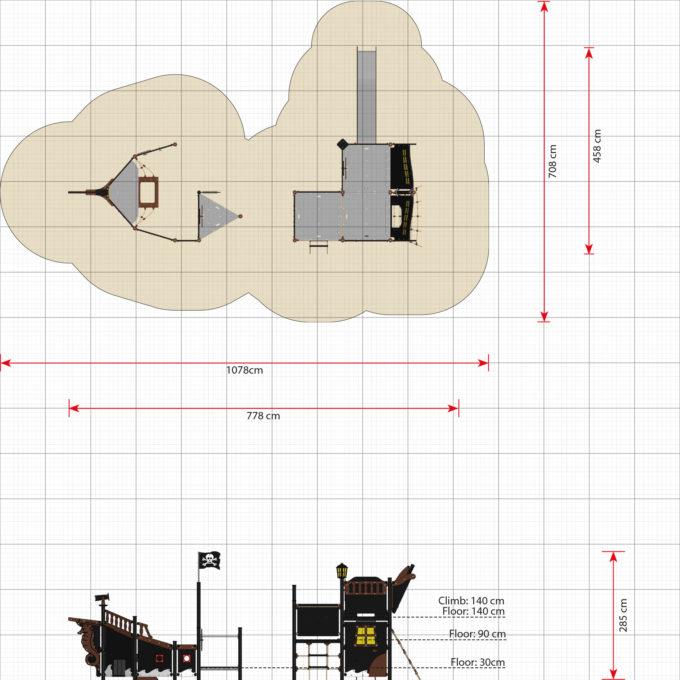 Piratenschiff Module aus der Serie LEDON Pirates 19