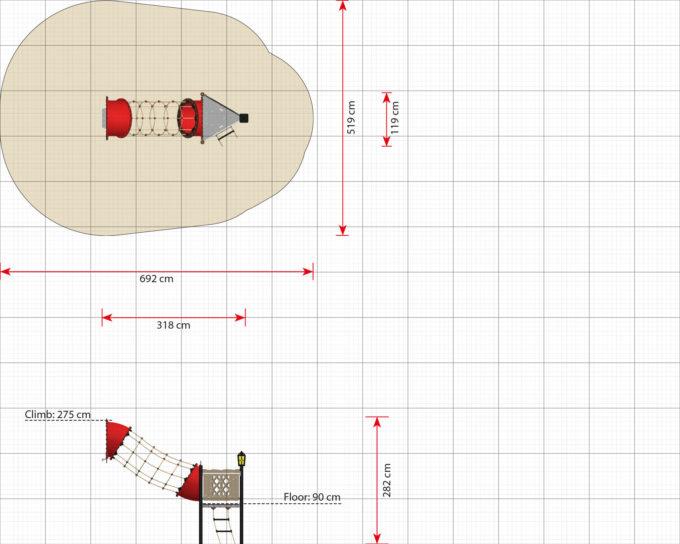 Hängebrücken Erweiterungsmodule für Piratenschiffe aus der Serie LEDON Pirates 14