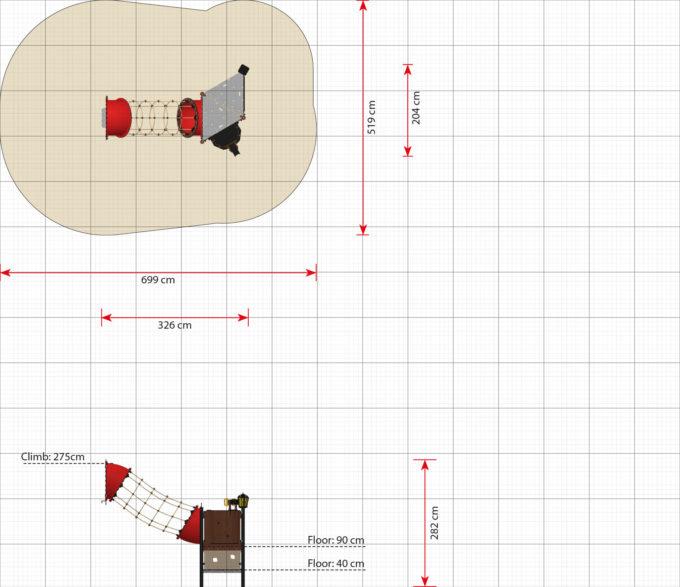 Hängebrücken Erweiterungsmodule für Piratenschiffe aus der Serie LEDON Pirates 15