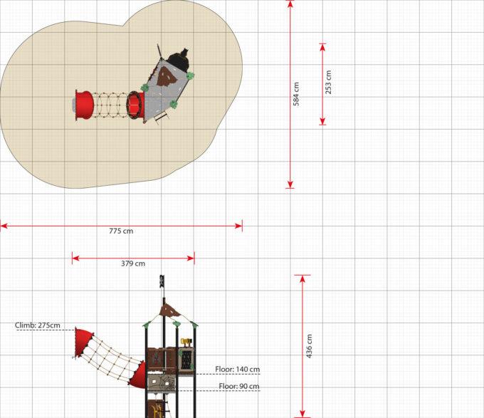 Hängebrücken Erweiterungsmodule für Piratenschiffe aus der Serie LEDON Pirates 16