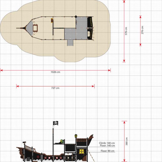 Großes Piratenschiff aus der Serie LEDON Pirates - in verschiedenen Ausführungen 39