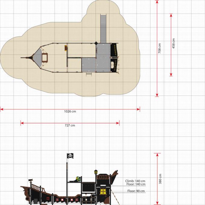 Großes Piratenschiff aus der Serie LEDON Pirates - in verschiedenen Ausführungen 40