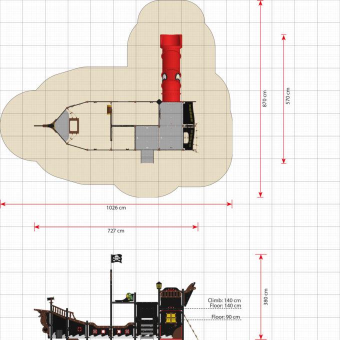 Großes Piratenschiff aus der Serie LEDON Pirates - in verschiedenen Ausführungen 42