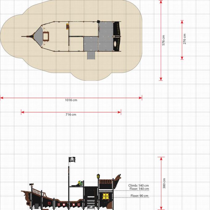Großes Piratenschiff aus der Serie LEDON Pirates - in verschiedenen Ausführungen 43