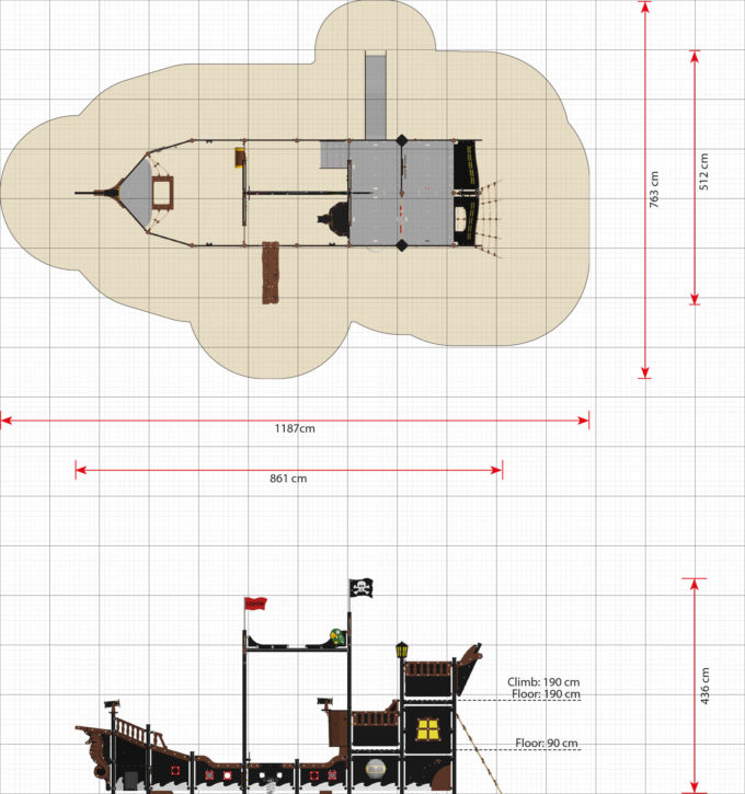 Riesiges Piratenschiff aus der Serie LEDON Pirates - in verschiedenen Ausführungen 32
