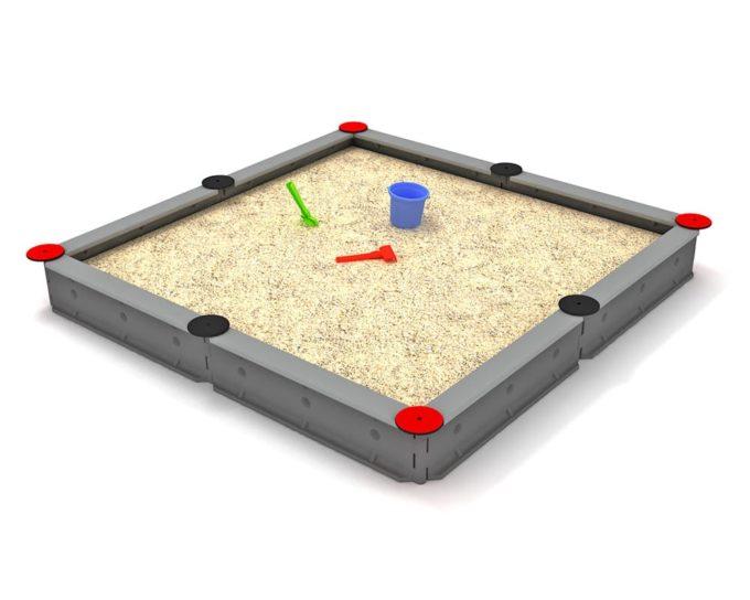 LEDON Sandkasten quadratisch mit 8 Seiten - verschiedene Ausführungen 16