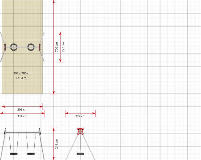 LEDON 2er Reifenschaukel in verschiedenen Designs 19