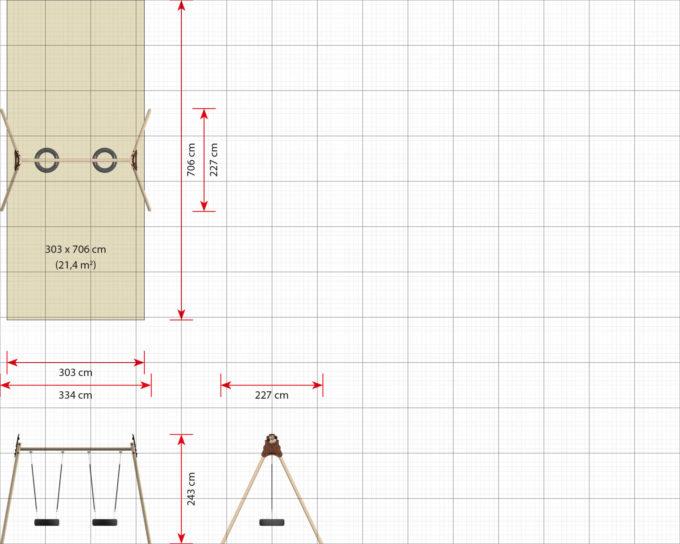 LEDON 2er Reifenschaukel in verschiedenen Designs 18