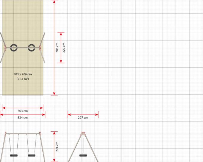 LEDON 2er Reifenschaukel in verschiedenen Designs 17