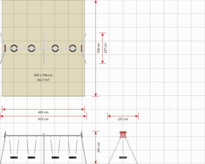 LEDON 4er Reifenschaukel in verschiedenen Designs 19