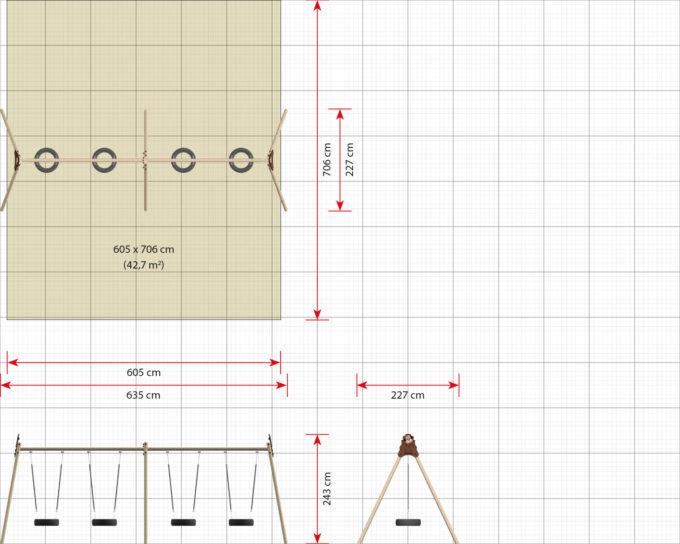 LEDON 4er Reifenschaukel in verschiedenen Designs 18