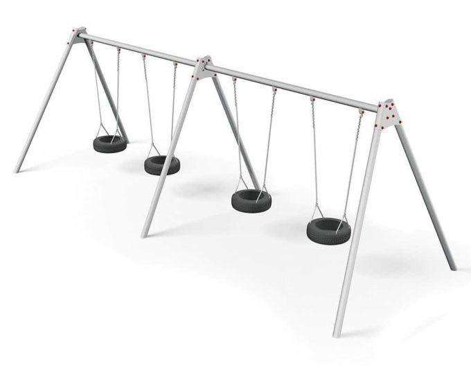 LEDON 4er Reifenschaukel in verschiedenen Designs 2