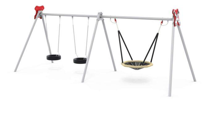 LEDON Schaukelkombination mit zwei Reifen und einem Vogelnest - verschiedene Designs 4