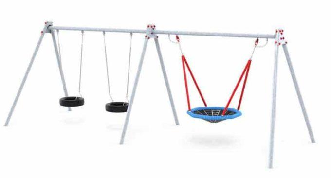 LEDON Schaukelkombination mit zwei Reifen und einem Vogelnest - verschiedene Designs 2