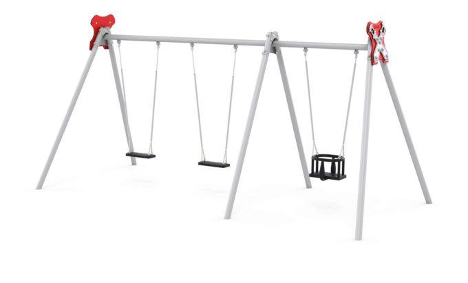 LEDON Schaukelkombination mit zwei Schaukeln und einem Babysitz - verschiedene Designs 4