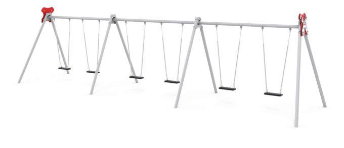 LEDON große Schaukel mit 6 Sicherheitssitzen - verschiedene Designs 4