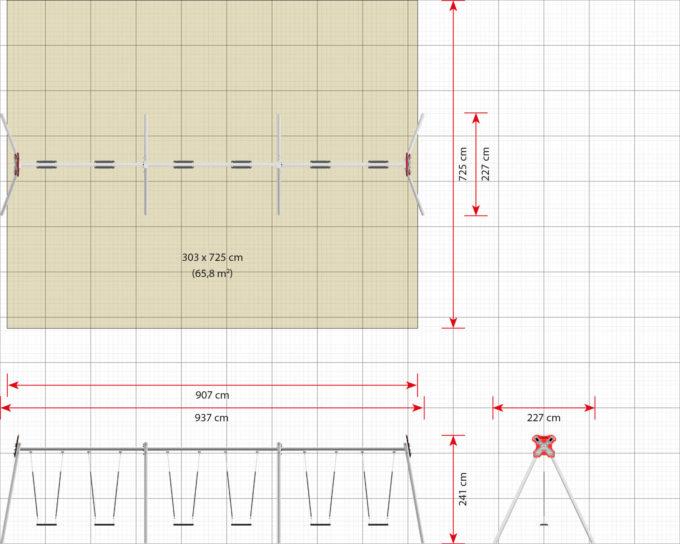 LEDON große Schaukel mit 6 Sicherheitssitzen - verschiedene Designs 11