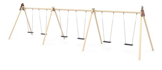 LEDON große Schaukel mit 6 Sicherheitssitzen - verschiedene Designs 3